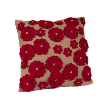 Roshni Scarlet Cushion